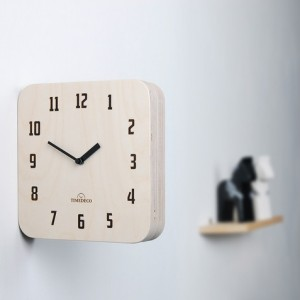 Morden Retro Wood Double Clock (Natural)