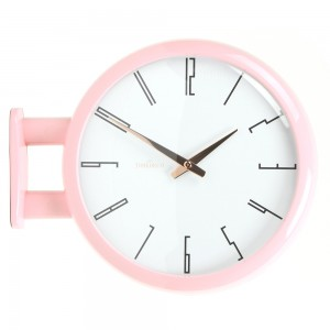 Morden Double Clock A7(Baby Pink)